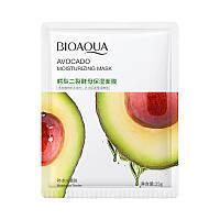 Тканевая увлажняющая и восстанавливающая маска для лица с авокадо BIOAQUA Avocado Moisturizing Mask