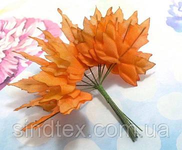 (12шт) Декоративні кленові листки на дроті, dz 11см (сп7нг-7877)