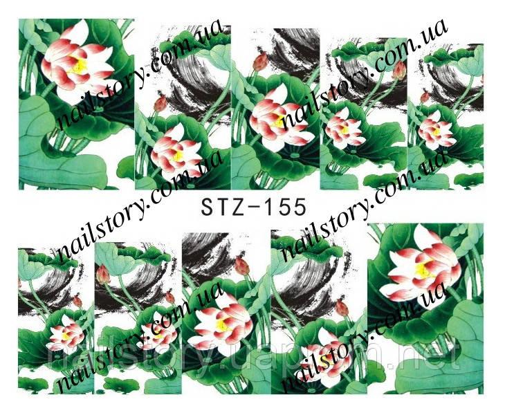 Водные наклейки для ногтей STZ155