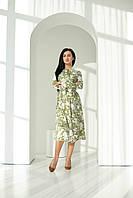 """Красивое платье """"311"""", хаки Размеры двойные 42-44,46-48,50-52."""