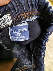 Утеплені джинсові штани для хлопчиків оптом, HL XIANG, 98-128 рр, фото 3