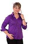Стильные блузки, купить фиолетовую,рубашки женские , Бл 006-1, фото 4