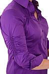 Стильные блузки, купить фиолетовую,рубашки женские , Бл 006-1, фото 5