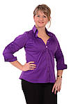 Стильные блузки, купить фиолетовую,рубашки женские , Бл 006-1, фото 6