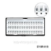 Пучковые ресницы со стразами. EY-BR-01B