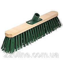 Щітка промислова ГОСПОДАР 400х75х150 мм ПЕ+ПВХ дерев'яна з пластиковим кріпленням без ручки 14-6465