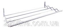 Вішалка для одягу розкладна ГОСПОДАР 1000 мм 5 перекладин біла 92-1715
