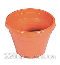 Горщик квітковий ГОСПОДАР Ø12 см без піддону коричневий 92-8003