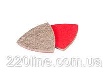 Насадка кругла повстяна грубошерста на липучці для реноватора MASTERTOOL 85 мм 10 шт 08-6598