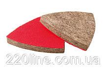 Насадка кругла повстяна грубошерста на липучці для реноватора MASTERTOOL 75 мм 10 шт 08-6597