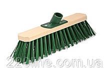 Щітка промислова ГОСПОДАР 300х75х150 мм ПЕ+ПВХ дерев'яна з пластиковим кріпленням без ручки 14-6412