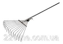 Грабли веерные MASTERTOOL раздвижные проволочные с ручкой крашеные 500х1450 мм 14-6231
