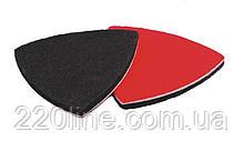 Насадка для реноватора MASTERTOOL трикутна повстяна тканинна на липучці 75 мм 10 шт 08-6807