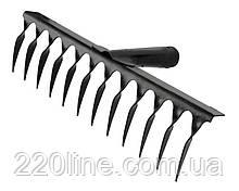 Грабли металлические MASTERTOOL крученые 12 зубов 350х90 мм 14-6206
