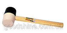 Киянка резиновая MASTERTOOL 65 мм 450 г рукоятка из дерева черно-белая 02-0322
