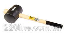Киянка резиновая MASTERTOOL 80 мм 900 г рукоятка из дерева черная 02-0304