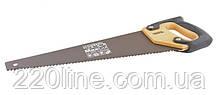 Столярна ножівка MASTERTOOL 400 мм 7TPI MAX CUT розжарений зуб 3-D заточка тефлонове покриття 14-2340