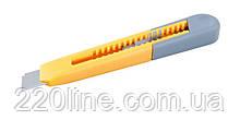 Нож MASTERTOOL 18 мм ABS пластик кнопочный фиксатор 17-0321