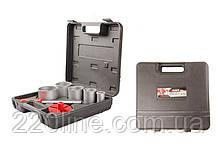 Набір корончатых свердел GRANITE для плитки 5 шт 33-83 мм вольфрамове напилення + напилок у валізі 2-08-005