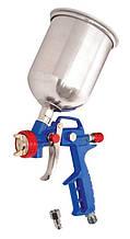 Краскопульт MASTERTOOL HP СБ 600 мл алюміній Ø1.5 мм 120-170 л/хв 3.5-5 бар, регулювання подачі повітря тип М