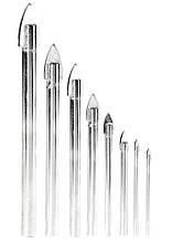 """Набір свердел """"піку"""" для скла та плитки GRANITE 8 шт (4х60/5х65/2 шт 6х68/2 шт 8х70/10х85/12х90 мм) 2-01-008"""