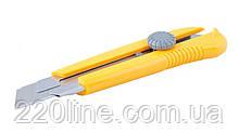 Нож MASTERTOOL 25 мм ABS пластик с металлической направляющей с магнитом винтовой замок 17-0325