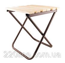 Стілець складаний ГОСПОДАР 300х330х345 мм з дерев'яним сидінням 92-0869