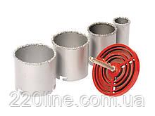 Набір корончатых свердел GRANITE для плитки 4 шт 33-73 мм вольфрамове напилення 2-08-004