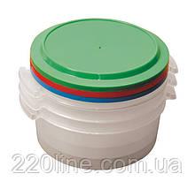 Судки пластикові харчові ГОСПОДАР 1 л набір 3 шт 92-0059