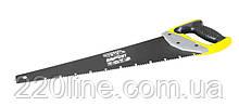 Столярна ножівка MASTERTOOL ALLIGATOR BLACK 450 мм 9TPI MAX CUT розжарений зуб 3-D заточка тефлонове покриття