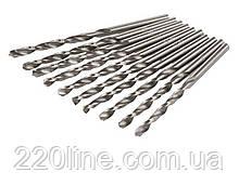 Свердло для металу MASTERTOOL Р6М5 1.0 мм біле 10-1010