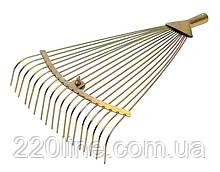 Грабли веерные MASTERTOOL раздвижные оцинкованные 18 зубов 500х390 мм 14-6230