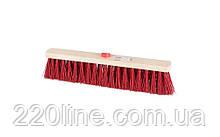 Щітка промислова MASTERTOOL 390х55х100 мм ПЕ+ПВХ дерев'яна з внутрішнім кріпленням без ручки 14-6365