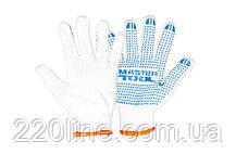 Перчатки трикотажные MASTERTOOL PREMIUM с ПВХ-точками 70% хлопок/30% полиэстер 10 класс 3 нити 68 гр