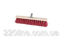 Щітка промислова MASTERTOOL 400х60х90 мм ПЕ+ПВХ дерев'яні з металевим кріпленням без ручки 14-6356