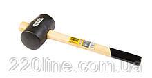 Киянка резиновая MASTERTOOL 60 мм 450 г рукоятка из дерева черная 02-0302