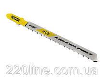 Пиляльне Полотно для лобзика MASTERTOOL по дереву 5 шт чистий прямий різ реверс 10TPI 100 мм T101BR 14-2807