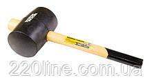 Киянка резиновая MASTERTOOL 100 мм 1200 г рукоятка из дерева черная 02-0305
