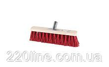 Щітка промислова MASTERTOOL 300х55х95 мм ПЕ+ПВХ дерев'яні з металевим кріпленням без ручки 14-6355