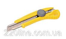 Нож MASTERTOOL 18 мм ABS пластик с металлической направляющей  винтовой замок 17-0328