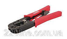 Кліщі для обтиску штекерів MASTERTOOL RJ11/RJ12/RJ45 190 мм 75-2243