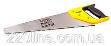 Столярна ножівка MASTERTOOL 400 мм 9TPI MAX CUT розжарений зуб 3-D заточка полірована 14-2840