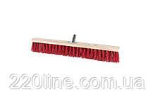 Щітка промислова MASTERTOOL 600х60х90 мм ПЕ+ПВХ дерев'яні з металевим кріпленням без ручки 14-6358