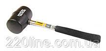 Киянка резиновая MASTERTOOL 60 мм 450 г металлическая рукоятка черная 02-1302