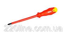 Отвёртка диэлектрическая крестовая MASTERTOOL PH2х125 мм 1000 В 47-0212