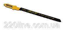 Пиляльне Полотно для лобзика MASTERTOOL по дереву 5 шт швидкий фігурний рез 12TPI 77 мм T119BO 14-2801