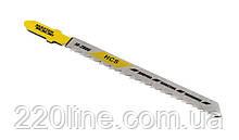 Пиляльне Полотно для лобзика MASTERTOOL по дереву 5 шт чистий прямий різ 10TPI 100 мм T101B 14-2806