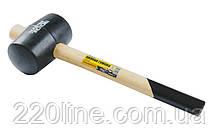 Киянка резиновая MASTERTOOL 75 мм 680 г рукоятка из дерева черная 02-0303