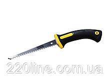 Ножівка для гіпсокартонних плит MASTERTOOL 180 мм 9TPI розжарений зуб 2-D заточка 14-2716
