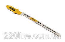 Пиляльне Полотно для лобзика MASTERTOOL по дереву 5 шт чистий фігурний рез 20TPI 77мм T101AO 14-2808
